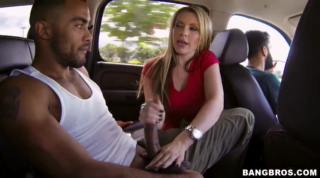 Blonde Pornstar Courtney Cummz Sucking In The Car