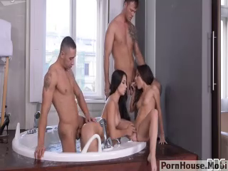 Two Couples having Sex In Bathroom