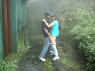 desi Desi couple of Shilong enjoying sex outside hotel