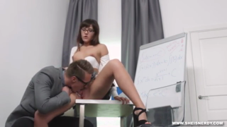Lovely secretary is often having sex with her boss, while no one is watching them