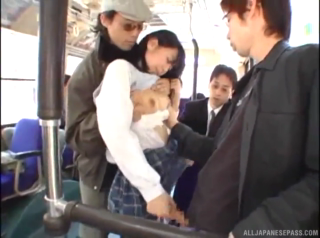 Naughty Japanese Teen Girl Gets Fucked On A Public Bus