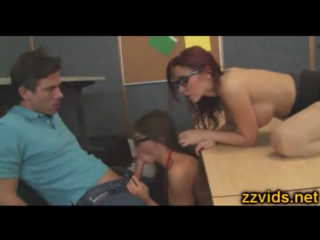 Threesome Sex In Class Room Madison Ivy And Her Friend